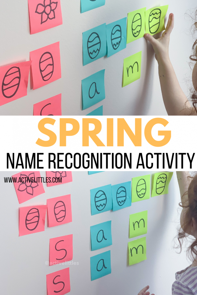spring themed name recogntion activity