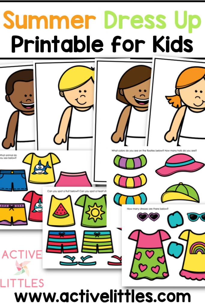 Summer Dress Up Printable for Kids