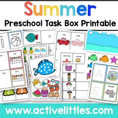 Summer Preschool Packet Printable