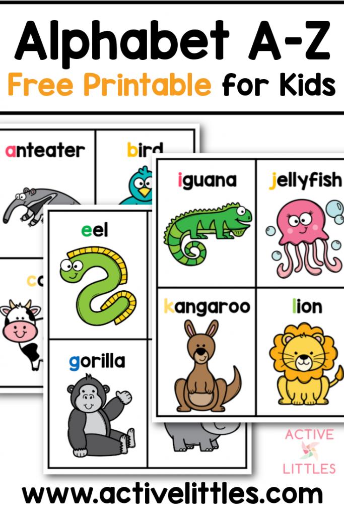 animal alphabet a-z free printable for kids