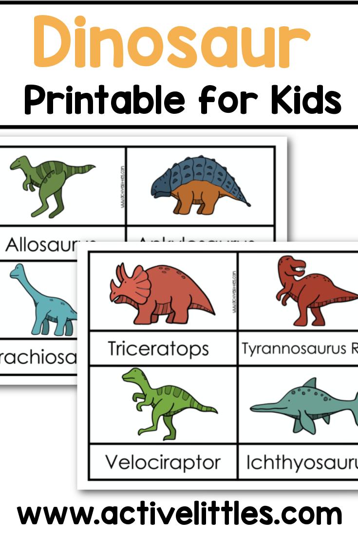 Free Dinosaur Printables Active Littles