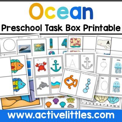 Ocean Preschool Printable