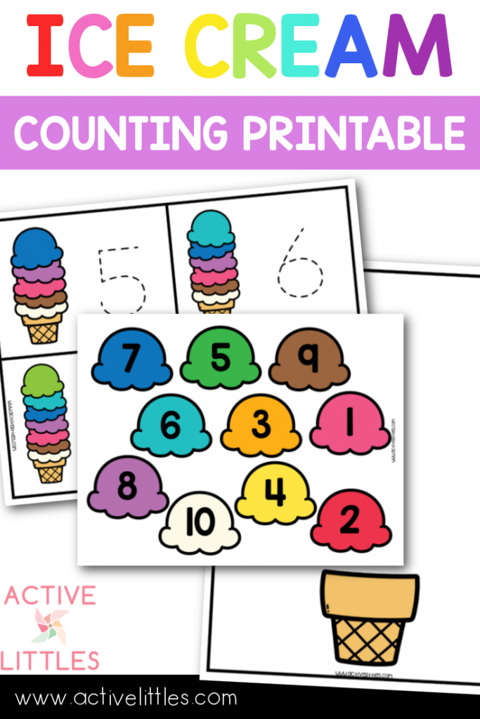 ice cream counting printable preschool