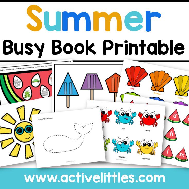 printable summer quiet book
