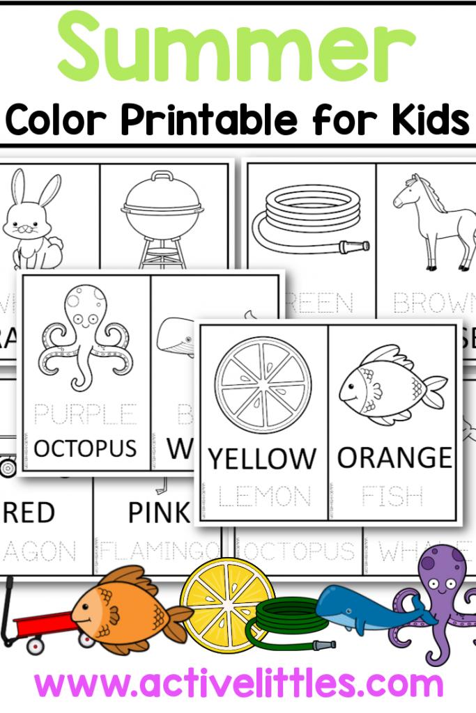 summer color printable for kids