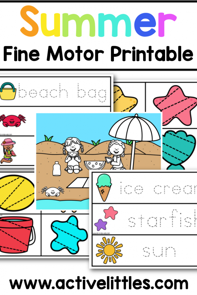 summer fine motor printable for kids