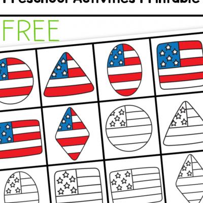 4th of july preschool activities printable