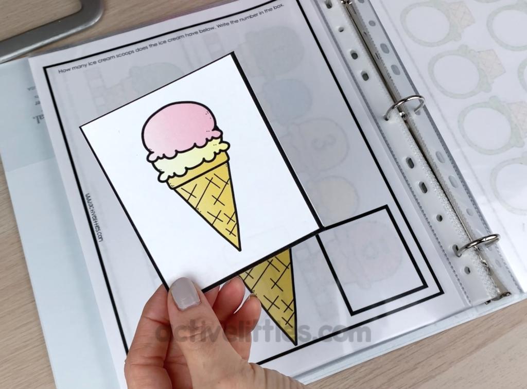 ice cream activity sheets
