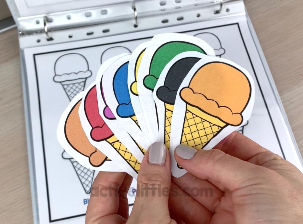 ice cream printable activity