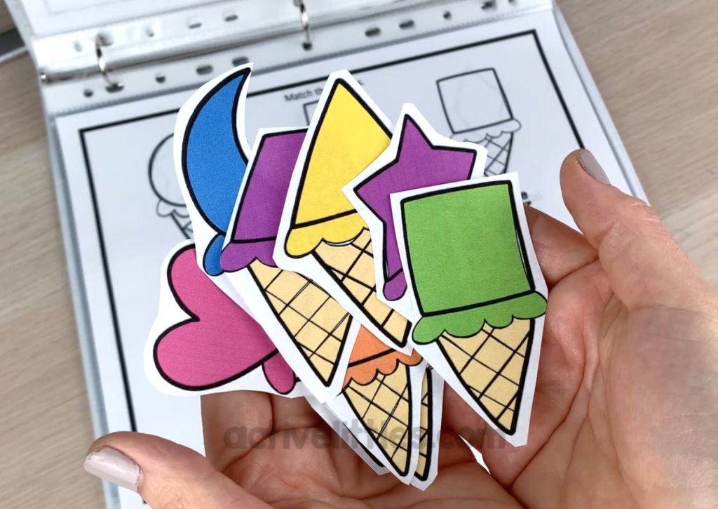 ice cream quiet book