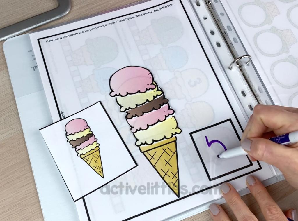 ice cream worksheet preschool