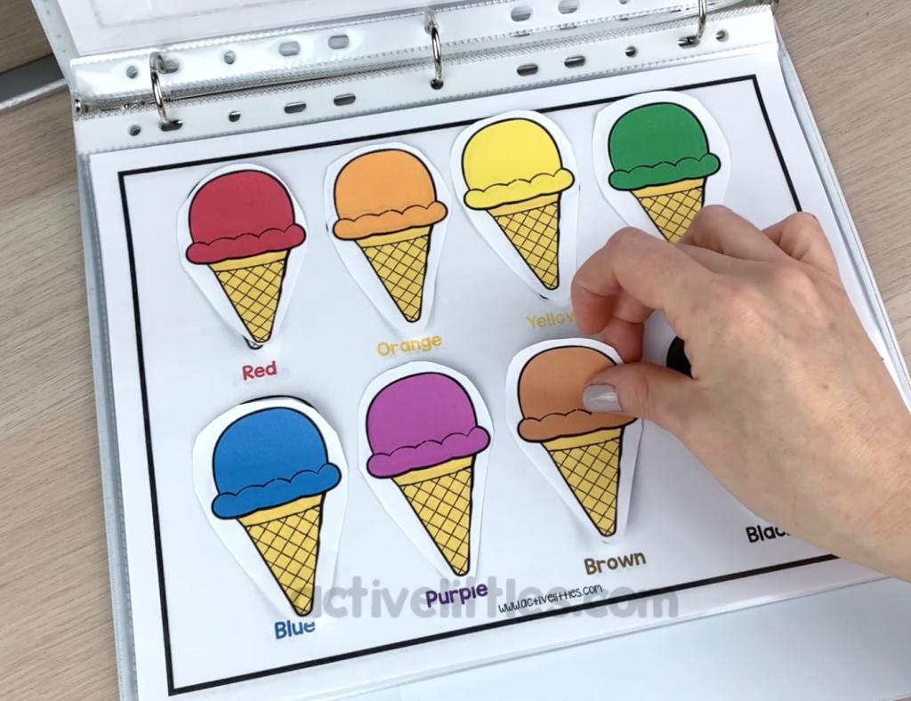printable ice cream template