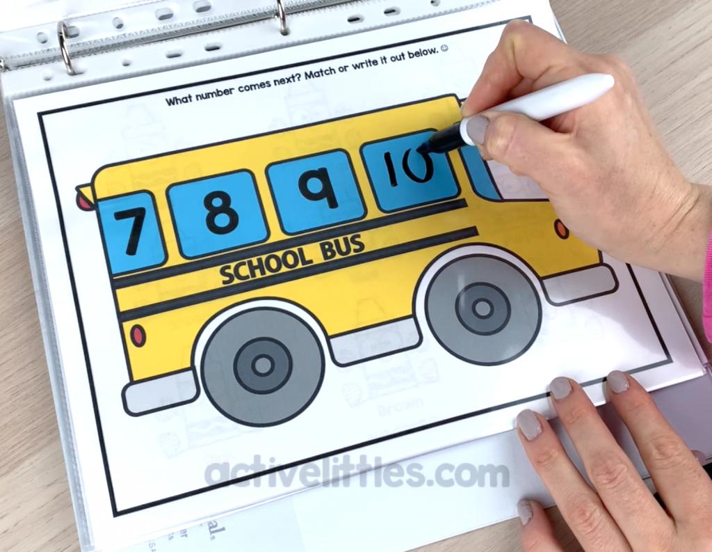 back to school preschool math activities
