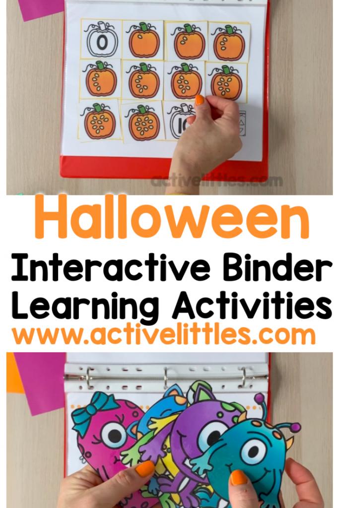 halloween busy book learning folder